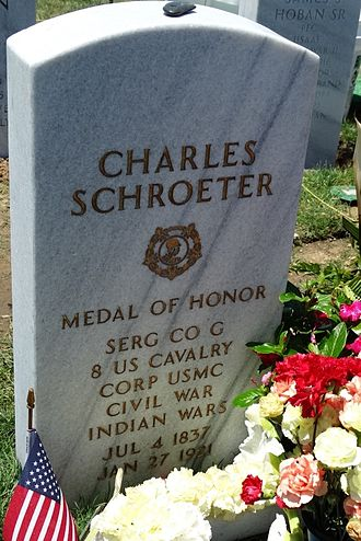 Charles Schroeter - Grave marker of Charles Schroeter - Medal of Honor- Section 3-1052 - Miramar National Cemetery