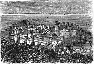 Cherbourg-Octeville - A view of Cherbourg in the 17th century.