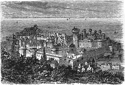A View Of Cherbourg In The 17th Century