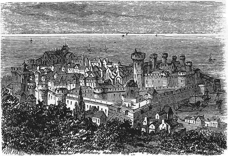 Fichier:Cherbourg au 17e siecle.jpg