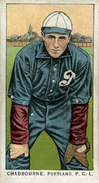 Chet Chadbourne - Chadbourne's 1911 Obak baseball card