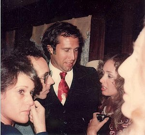 Chevy Chase - Chevy Chase at the private party after the premiere of the movie A Star is Born, December 1976