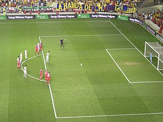 Penalty kick (association football) type of direct free kick in association football
