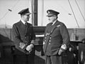 Chief of Combined Operations on Visit of Inspection. 6 March 1943, at HMS Armadilla and HMS Pascoe, Lord Louis Mountbatten Chief of Combined Operations Inspect Units of His Command. A15101.jpg