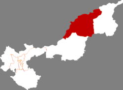 Location of Tongjiang in Jiamusi