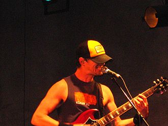 Propagandhi - Chris Hannah performing at Galpón Víctor Jara in Santiago-Chile, 2007