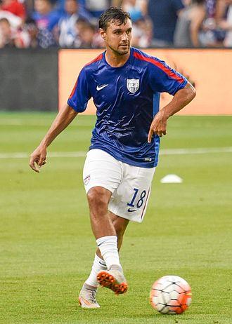 Chris Wondolowski - Wondolowski warming up at the 2015 CONCACAF Gold Cup