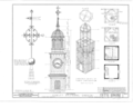 Christ Episcopal Church, Broad Street and Sycamore Avenue, Shrewsbury, Monmouth County, NJ HABS NJ,13-SHREW,1- (sheet 7 of 19).png