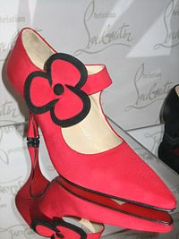 A photo of a Christian Louboutin shoe