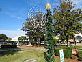 Christmas wreath decoration in Olustee Park 2015.JPG