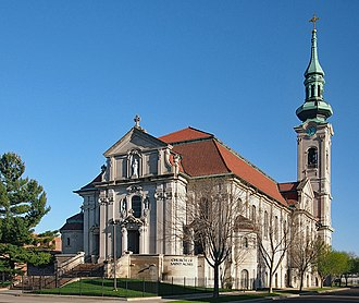 Frogtown, Saint Paul - The Church of St. Agnes, the spire and bells of which are prominent throughout the neighborhood.