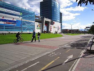 Bogotá's Bike Paths Network - A bikepath in Los Mártires