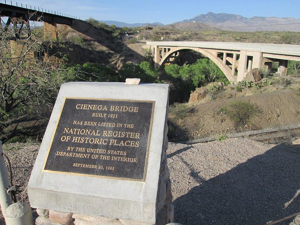 Cienega Creek Natural Preserve Bridge Marker Arizona 2014