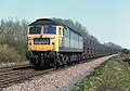 Class 47, no. 47366, on a westbound empty fly-ash train, west of Frisby on the Wreake, Leicestershire, Nigel Tout, 20.4.76.jpg