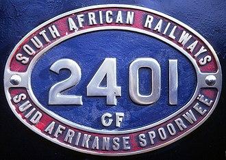 South African Class GF 4-6-2+2-6-4 - Image: Class GF no. 2401 ID