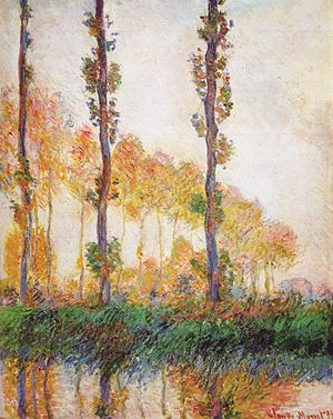 Poplars (Monet series) - Image: Claude Monet Poplars (Autumn) II