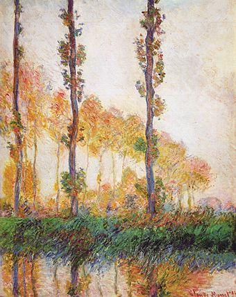 Claude Monet - Poplars (Autumn) II