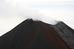 Mount Cleveland (Alaska) - Steam emissions from the summit of Mount Cleveland, 15 August 2008