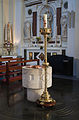 Clonmel Irishtown St. Mary's Church of the Assumption East Transept Baptismal Font 2012 09 06.jpg