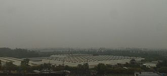 Mohali - Clouds and downpour at Godrej, Mohali during Mid-April (2015)