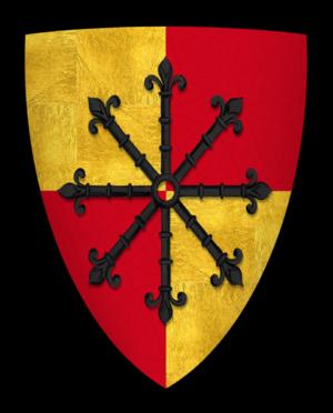 Geoffrey FitzGeoffrey de Mandeville, 2nd Earl of Essex - Arms of Geoffrey de Mandeville, Earl of Essex and Gloucester
