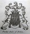 Coat of arms of Powlet Duke of Bolton, published by Arthur Collins in The Peerage of England, 1768.jpg
