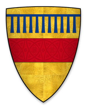 Saer de Quincy, 1st Earl of Winchester - Arms displayed by Earl Saer on his seal on Magna Carta. These differ from his arms used elsewhere but can also be seen in stained glass at Winchester Great Hall.