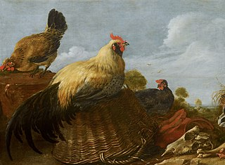 Cock and Hens in a Landscape