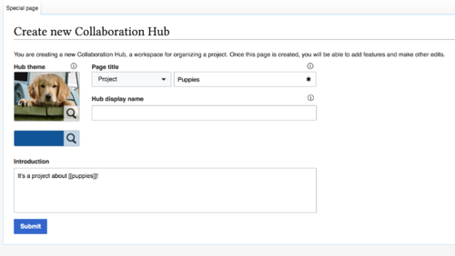 CollaborationKit screenshot CreateCollaborationHub.png