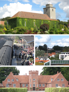 Hadsten Town in Central Denmark Region, Denmark