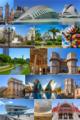 Collage de la ciudad de Valencia, capital de la Comunidad Valenciana, España.png