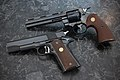 Colt Python and pre-70 National Match (19414822832).jpg