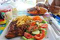 Comida en isla de Ngor.JPG