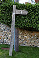 Concrete fingerpost Little Easton Essex England.jpg