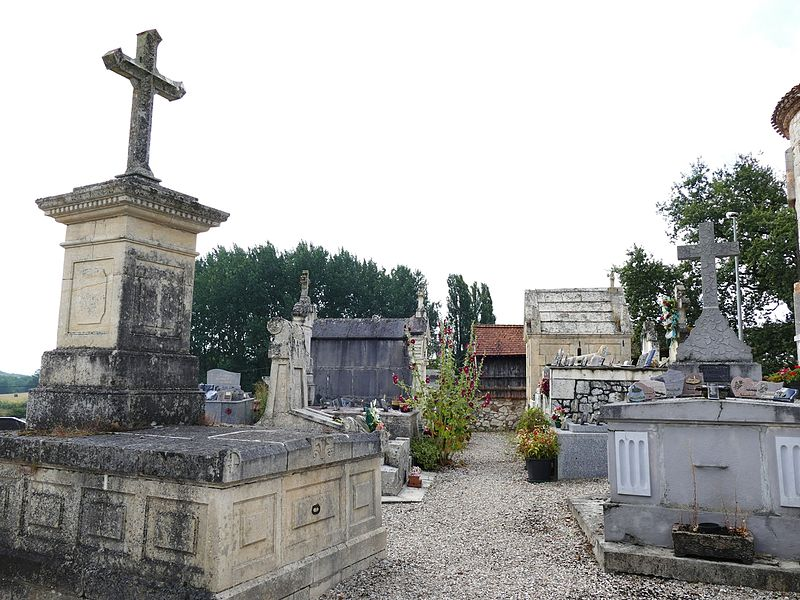 The churchyard in Condezaygues (Lot-et-Garonne, Aquitaine, France).
