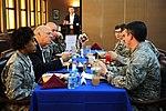 Congressman Steve Pearce speaks with service members.jpg