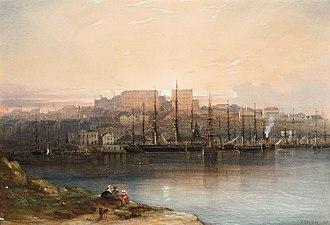 Robert Campbell (1769–1846) - Conrad Martens, Campbell's Wharf, 1857, National Gallery of Australia
