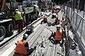 Construction of a new tram line in Dublin 01.jpg