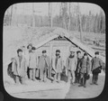 Convict camp - 10 men in front of sod house LCCN2004708021.tif