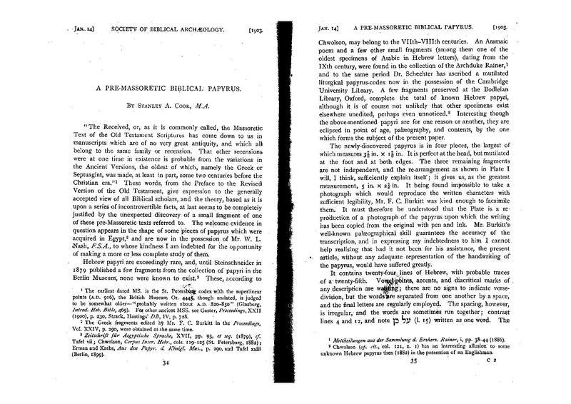 "File:Cook, Stanley A. ""A Pre-Massoretic Biblical Papyrus"".pdf"