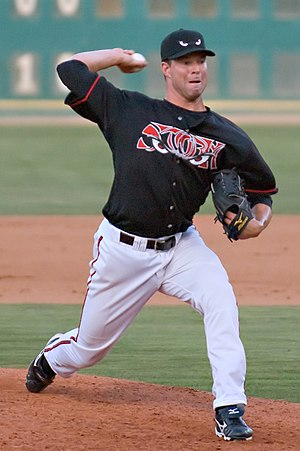 Corey Kluber - Kluber pitching for the Lake Elsinore Storm in 2008