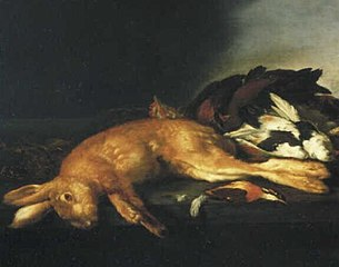 Dead Hare and Birds