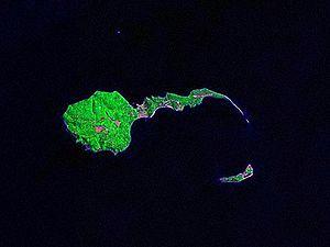 Caballo Island - Caballo Island (bottom) and the larger Corregidor Island (top)