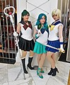 Cosplay of Sailor Pluto, Sailor Neptune and Sailor Uranus at Katsucon 2015.jpg