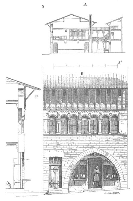 Dictionnaire raisonn de l architecture fran aise du xie - Plan coupe facade maison ...