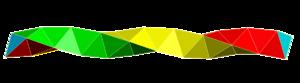 Boerdijk–Coxeter helix - Image: Coxeter helix 3 colors