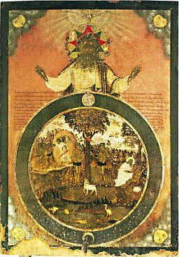 Creation of world icon (Russia, 18 c.)