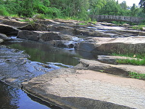 Indian Springs State Park - Image: Creek at indian springs