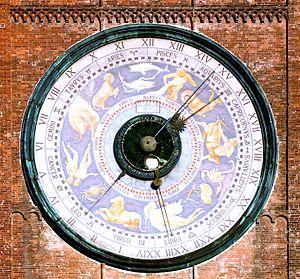 Torrazzo of Cremona - Astronomical clock.