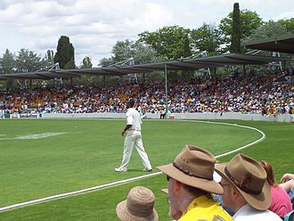 Manuka Oval - Image: Cricket at Manuka Oval (70848762)